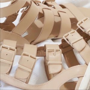 BCBG Buckle Sandals